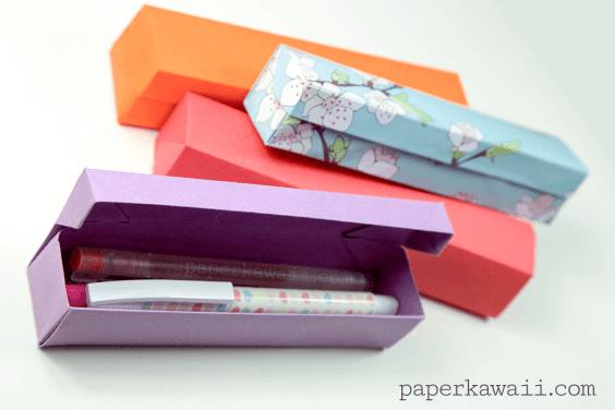 Origami Pencil Box Video Tutorial