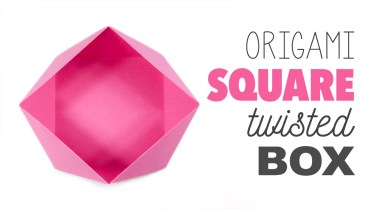 Traditional Origami Square Bowl / Box Instructions