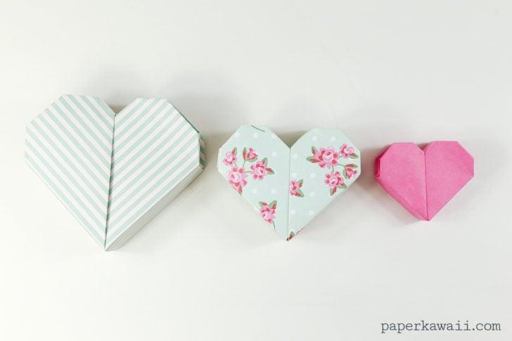 origami heart box video instructions paper kawaii