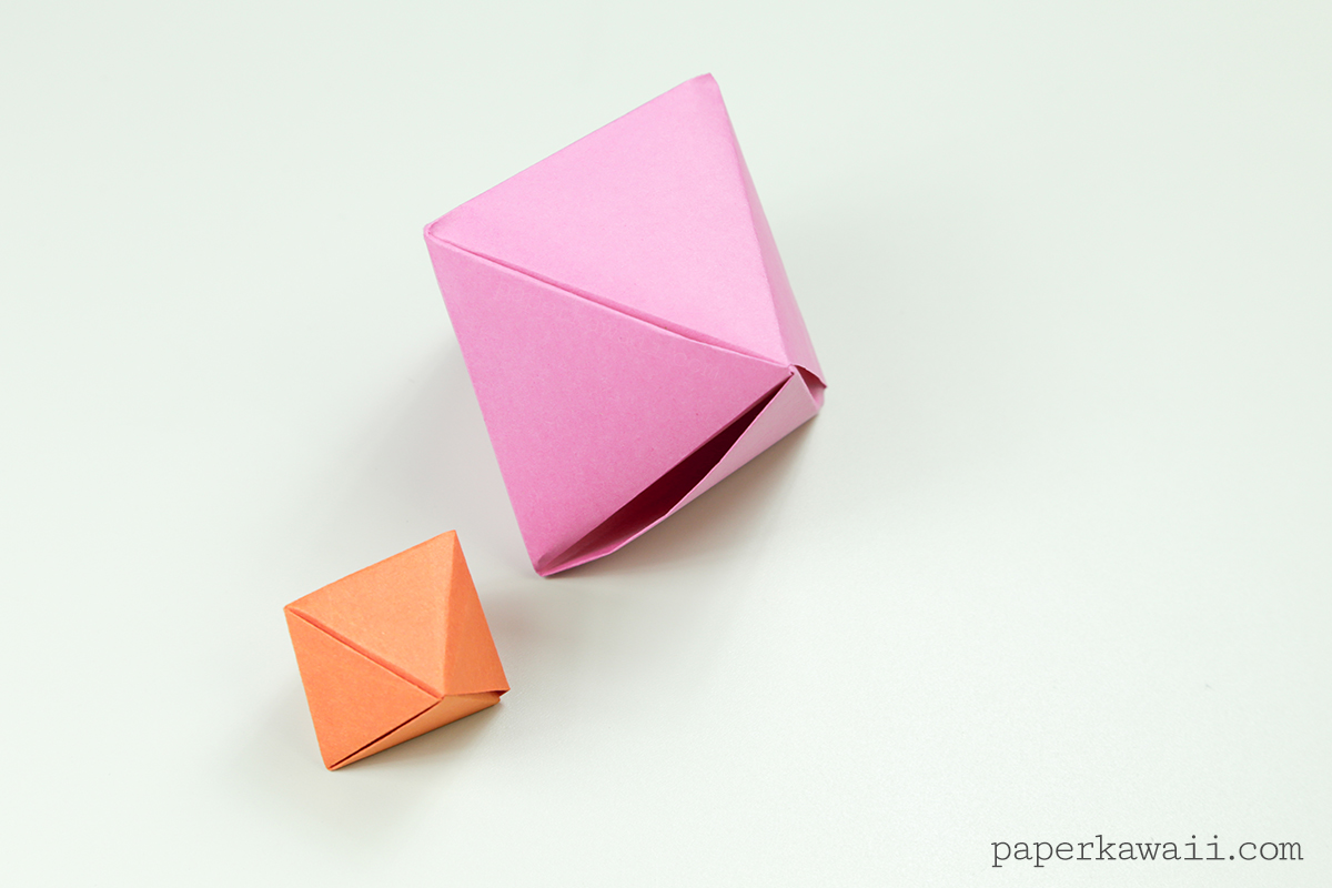 origami octahedron box decoration instructions �� paper