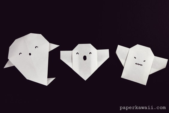 Easy Origami Ghost Tutorial For Halloween