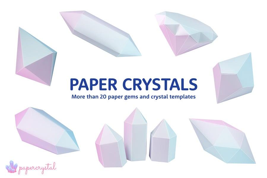 PRINTABLE PAPER GEMS & CRYSTALS