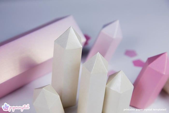 paper-crystal-printable-gem-templates-pink-closeup-crystals