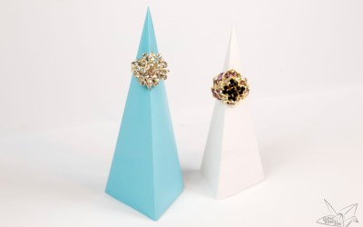 Origami Pyramid Ring Stand Tutorial
