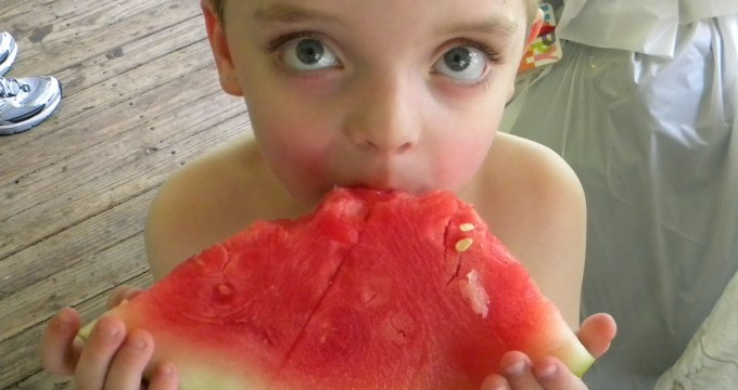 Wordless Wednesday: Watermelon on a hot day...