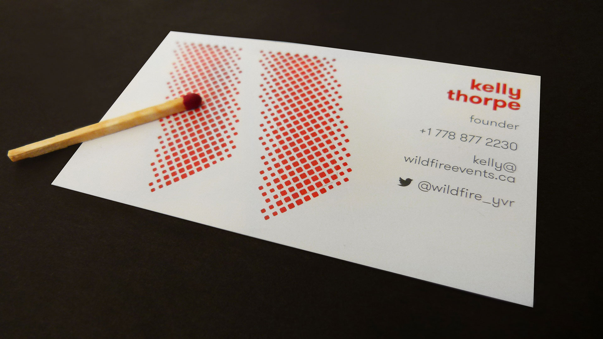 Stylish Clientwildfire Experiential Cossette Communications Created A Business Card So Hot That If You Have A Wildfire Business Cards Business Card Paper Types Business Card Paper Cutter cards Business Card Paper