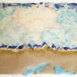 Pulp painting of Nevada desert