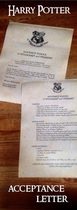 Small Of Harry Potter Letter