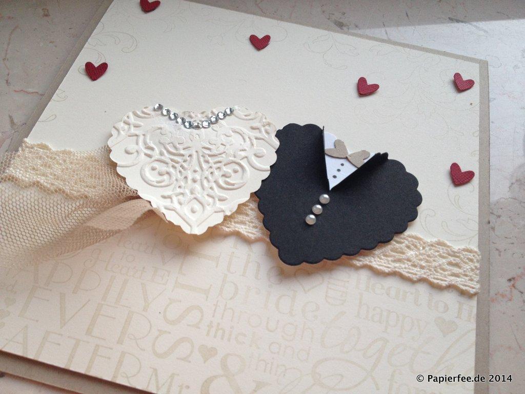 zwei herzen zur hochzeit papierfee zauberhaftes aus papier. Black Bedroom Furniture Sets. Home Design Ideas