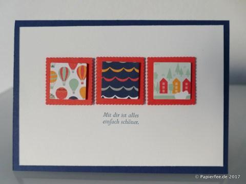 """Stampin'Up!, Karte, Sale-a-Bration 2017, SAB 2017, Designerpapier """"Traum vom Fliegen"""""""