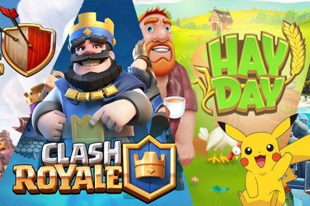clash of clans royale boom beach hay day pokemon go papys warriors jeux mobiles