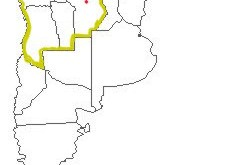 Mapa jurisdiccional del Consulado del Paraguay en Córdoba