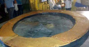 Chipá argolla kakua'á (gigante) de tres metros de diámetro