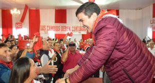 Santiago Peña  en un acto en Caaguazú (Foto: lanacion.com.py)