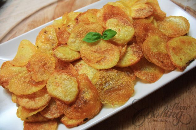 5 home made potato chips