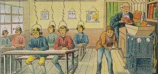 Ecole de l'an 2000 imaginée en 1910