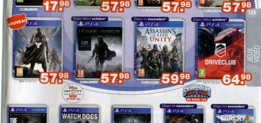 Page jeux PS4 du catalogue Maxitoys
