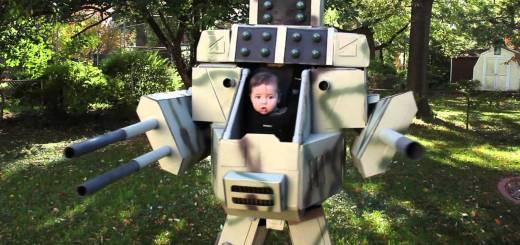 MechDaddy : cosplay pour bébé + papa