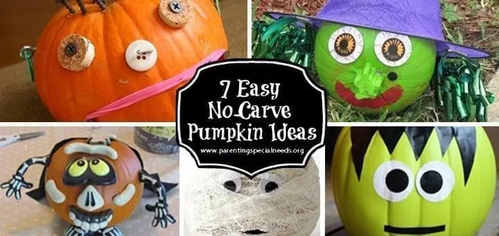 7 Easy No Carve Pumpkin Decorating Ideas   Parenting Special Needs     7 Easy No Carve Pumpkin Decorating Ideas