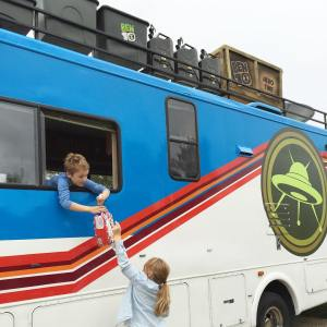 Home for the night its Ben 10s Awesome Rustbucket RV!hellip