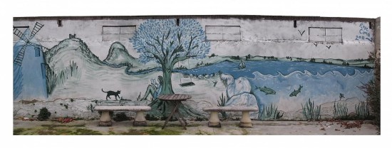 Mural painting in Provence