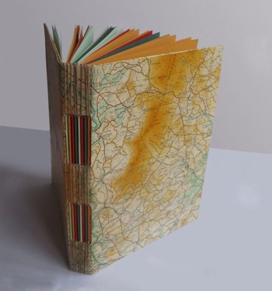 Recycled Notebook made with old maps