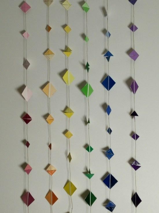 Rainbow garlands