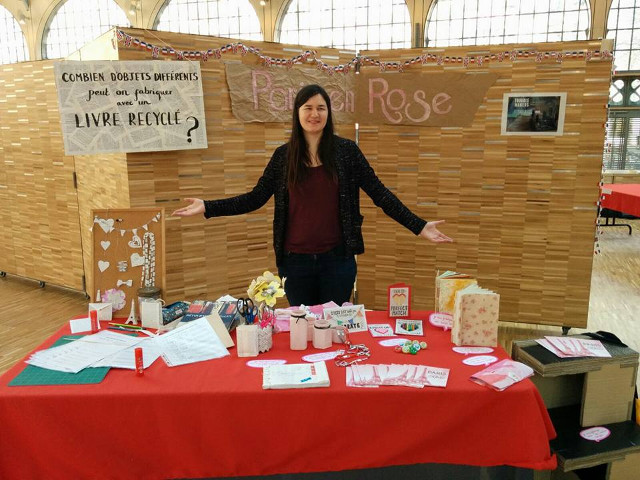 Paris en Rose stall at the Second Square #5 event