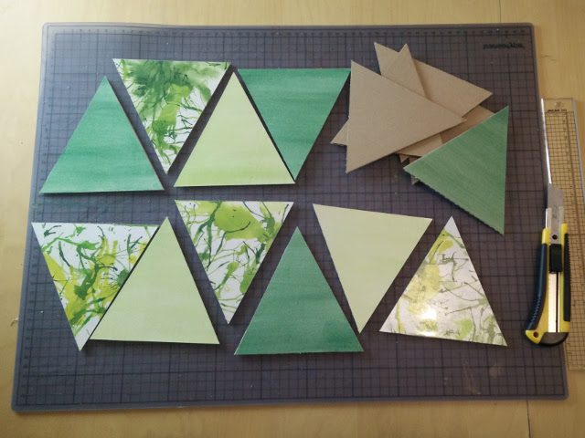 Cutting out the triangles