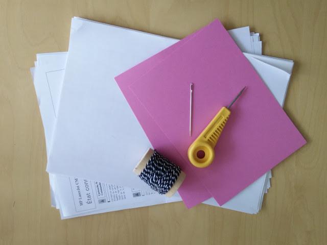 Carnets recycl s avec du papier brouillon paris en rose for Papier imprimante autocollant exterieur