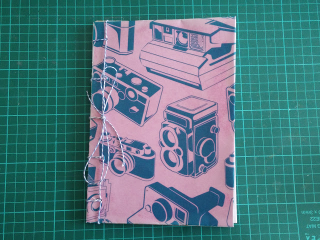 Recycled notebook with camera paper