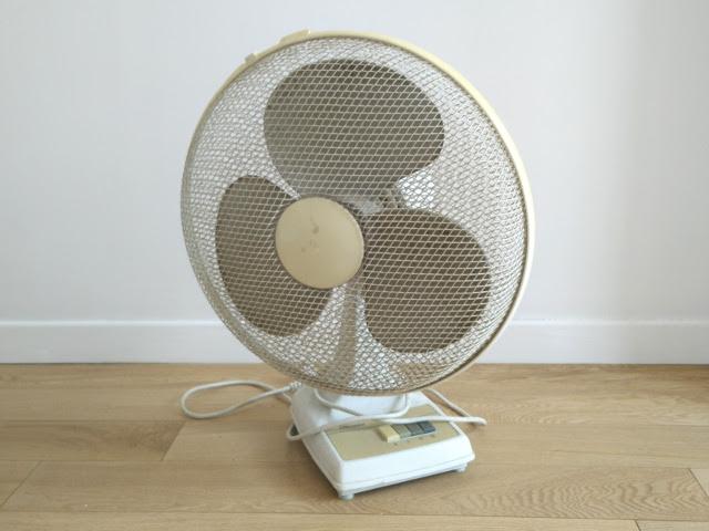 Le ventilateur avant son relooking