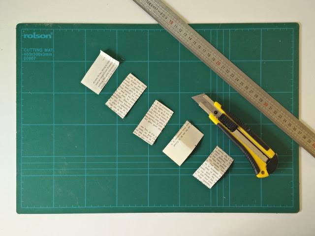 Coupez des rectangles de 3.5cm par 6.5cm
