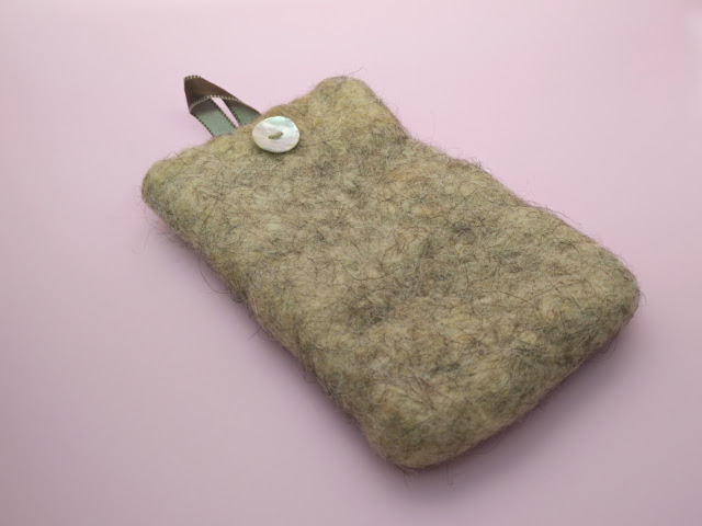 Phone case made with recycled wool insulation