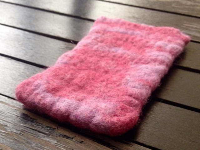 Felted phone case