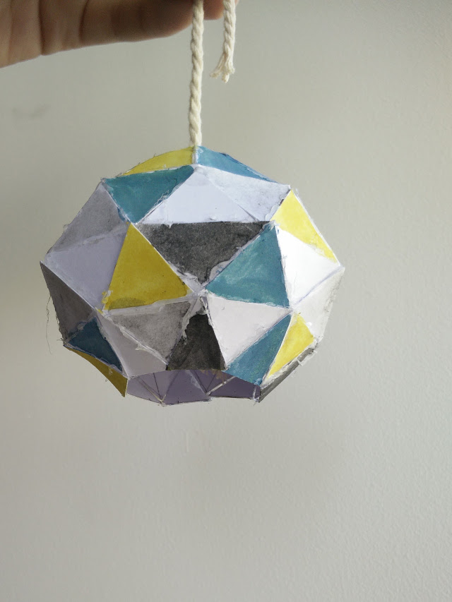 Prototype for origami lamp shade