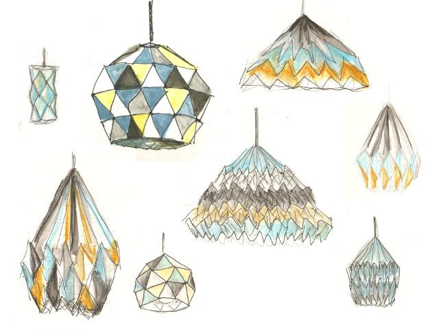 Des idées pour l'abat-jour en origami