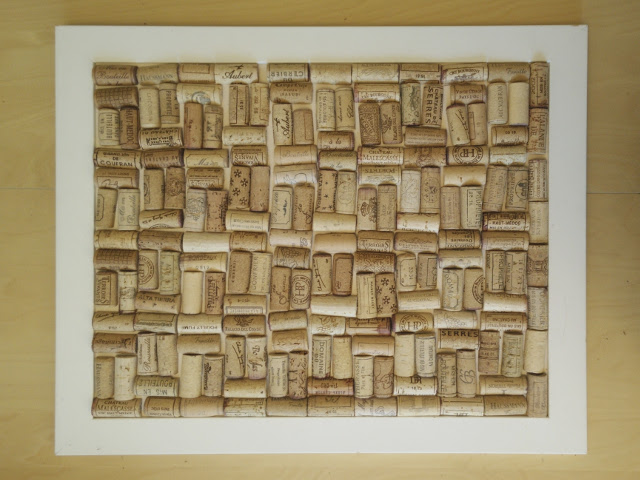 The finished cork arrangement