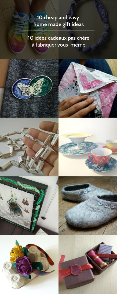 10 cheap and easy home made gift ideas
