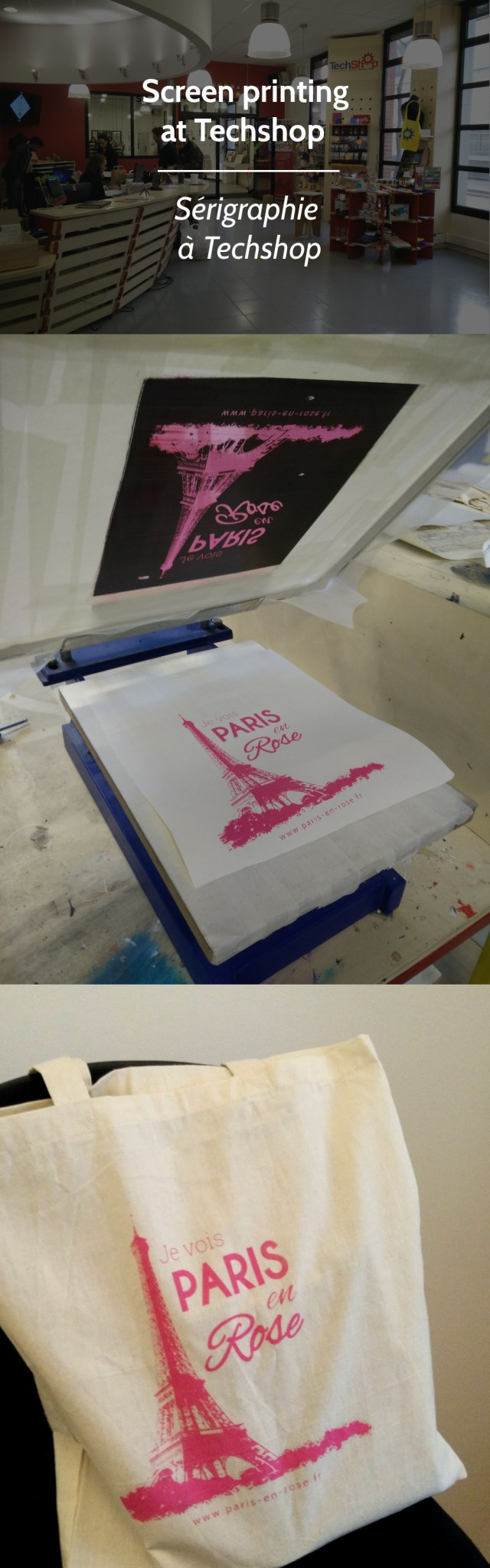 Screen printing at Techshop