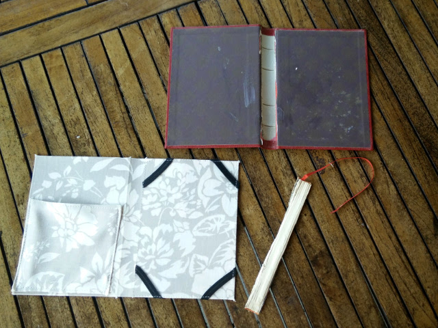 The competed card and the book cover ready to be glued together