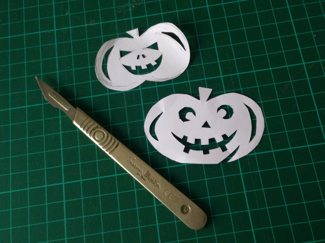Design and cut out your spooky shapes