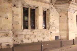 palais de justice impacts balles deuxieme guerre