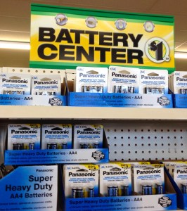 Dollar Store Batteries