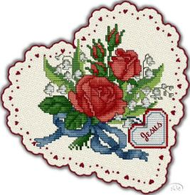 cross stitch Valentine with Jesus
