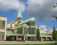 Contemporary church exterior