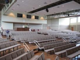 Multi-functional church auditorium