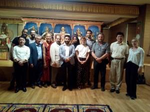 Une partie des membres de la présidence de l'UNPO et de l'équipe administrative, à la Maison du Tibet de Barcelone..