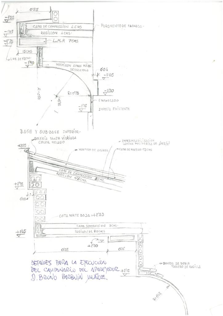 III dibujo proyecto espadaña año 1993