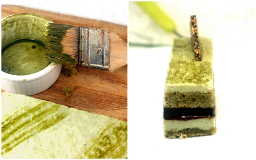 Matcha (green tea) Pistachio Black Sesame Chocolate Mousse Cakes (Entremet)